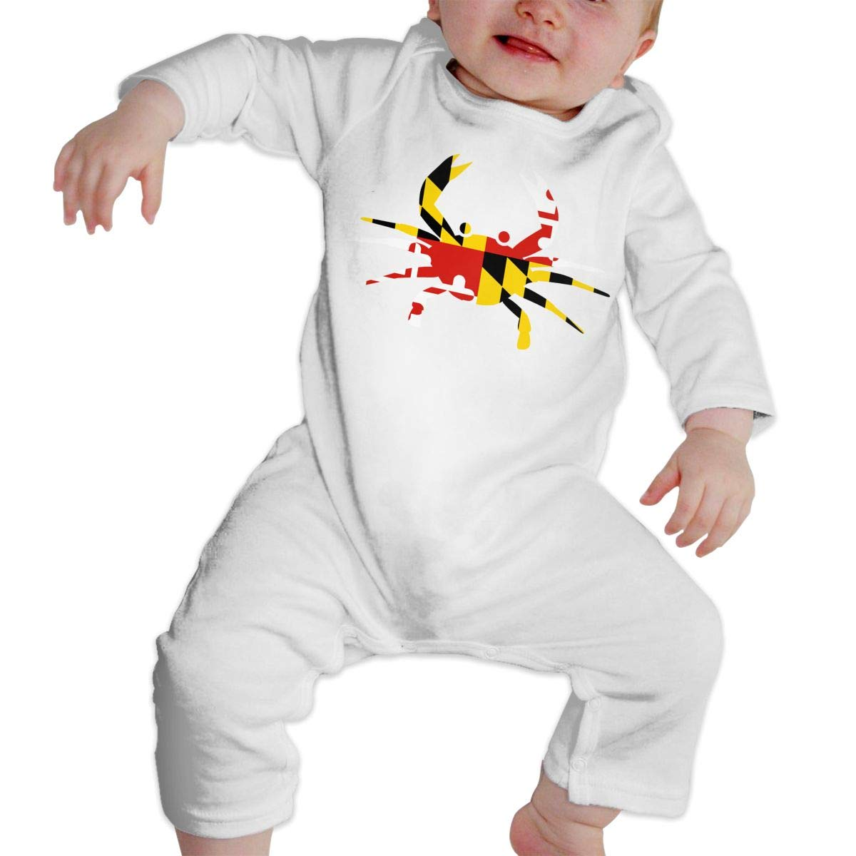 nordic runes Maryland Flag Crab Baby Onesies Toddler Baby Girl//Boy Unisex Clothes Romper Jumpsuit Bodysuit One Piece