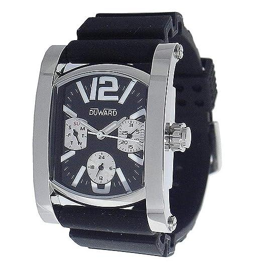 DUWARD Reloj para Hombre Analógico Cuarzo con Correa de Goma D1700712: Amazon.es: Relojes
