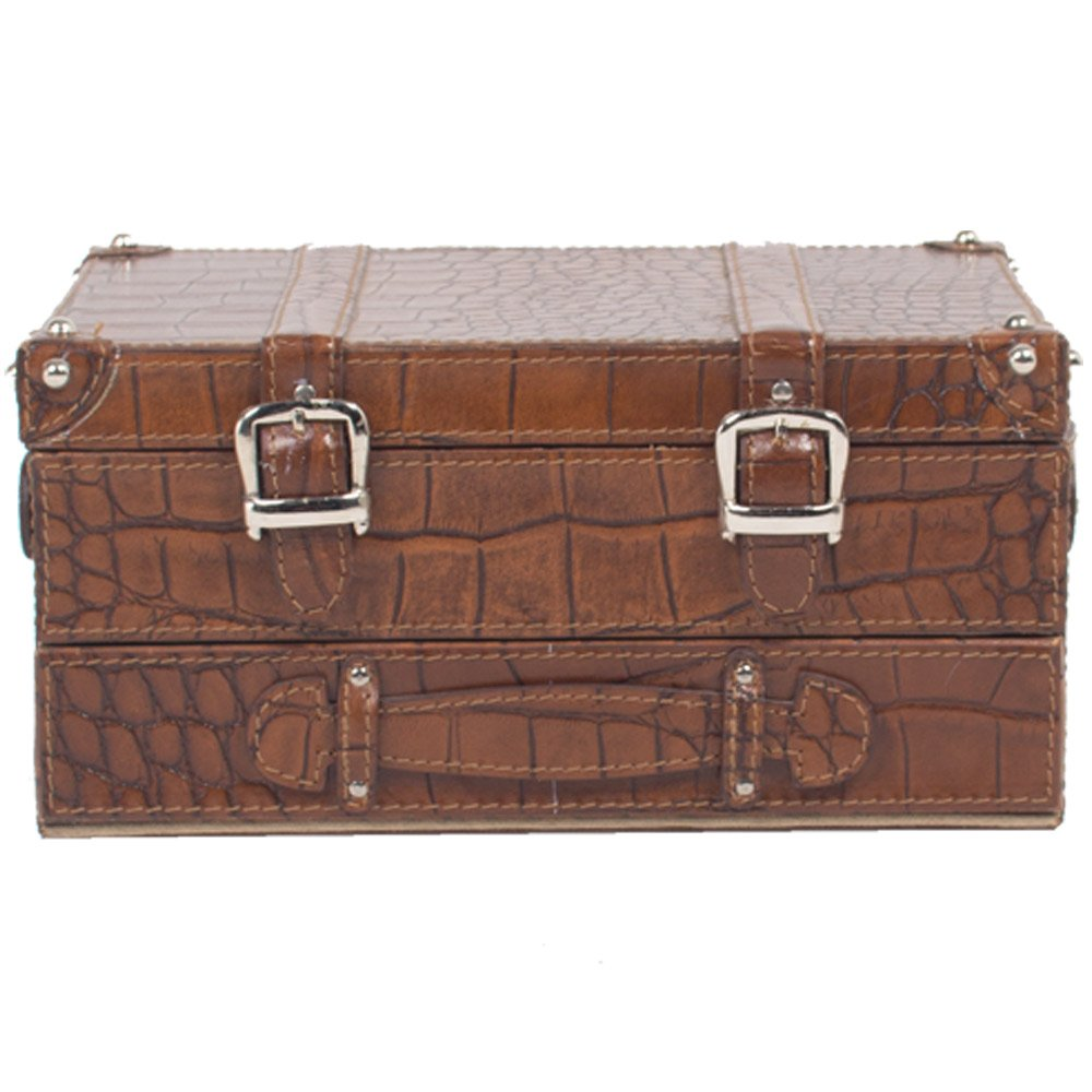 THREE SIXTY Watch Box Case Organizer Jewelry Drawer for Storage and Display for Men & Women In Genuine Leather.