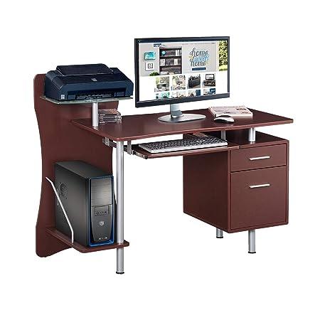 Techni Mobili RTA-325-CH36 Stylish Computer Desk with Storage, Chocolate, 39.5 x 44 x 51.25 ,