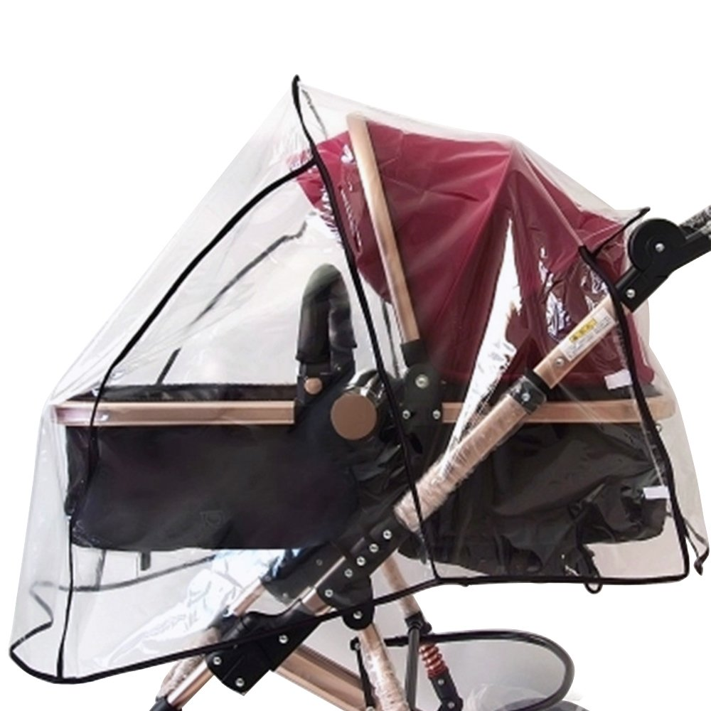 Elisona-Universal Pushchair Stroller Pram Buggy Transparent Rainproof Cover Rain Shade Protector