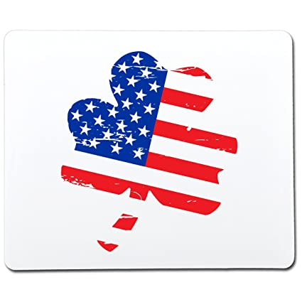 Amazon.com: Clover Shaped American Flag Funny Gag Gift Co-Worker Gift Novelty Mouse Pad Computer Accessory Gift for Dad: MP3 Players & Accessories
