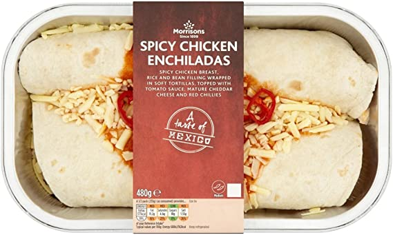 Morrisons A Taste Of Mexico Spicy Chicken Enchiladas Meals