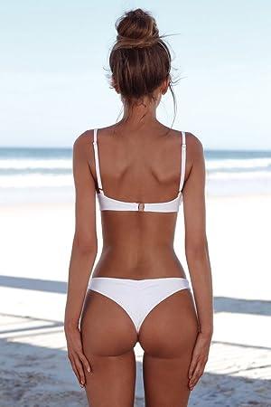 BaZhaHei Bikini de Mujer Traje de baño de Mujer Bandeau Bandage Bikini Set Push-Up Traje de baño brasileño Ropa de Playa Traje de baño Bikini Superior de Tubo de Mujer