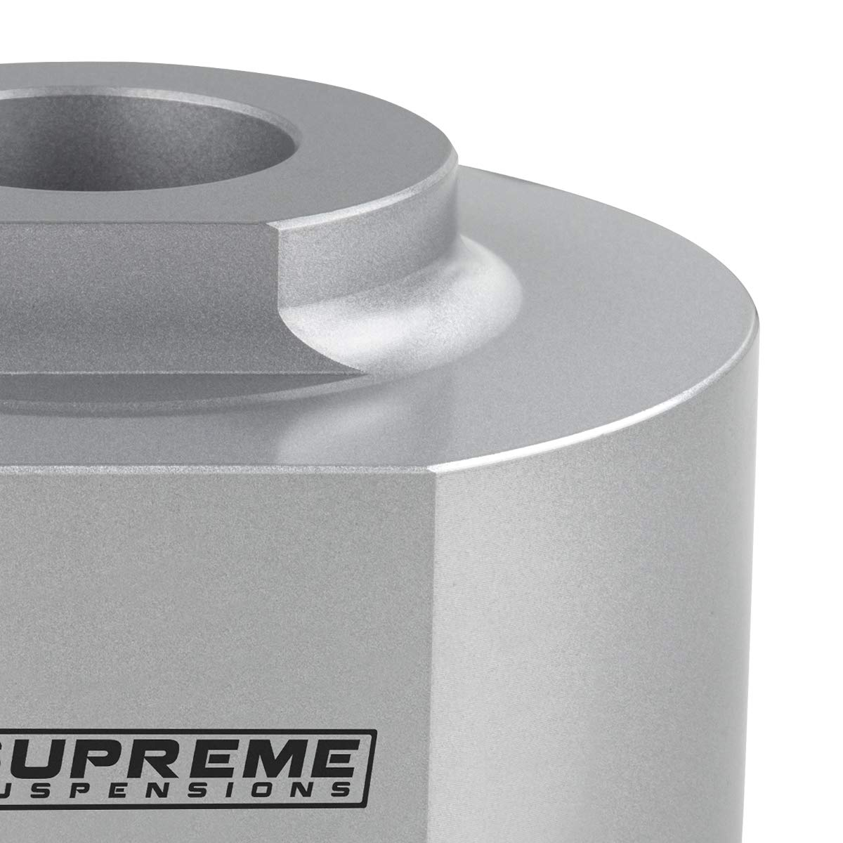 Silver Supreme Suspensions Front Leveling Kit for 1981-1996 Ford F150 1.5 Inch Front Aircraft Billet Coil Spring Spacers with 5//8 Stud Extenders for 4WD Model