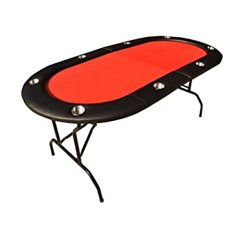 IDS HOME Foldable Poker Table Casino Texas Holdem, Ver.2, 8 Player