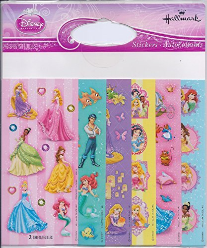 12 Scrapbooking Stickers - Disney Princess Variety Pack Stickers (12 Sheets)
