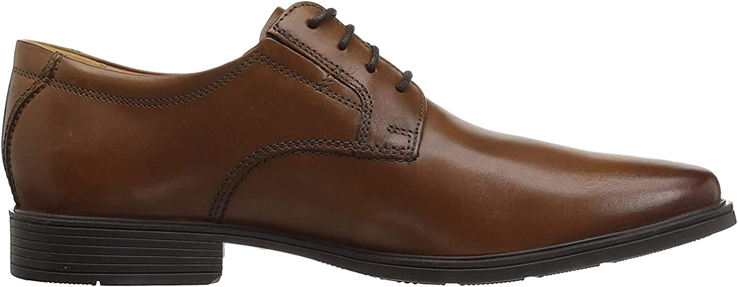 Clarks Men's Tilden Plain Derbys, Brown