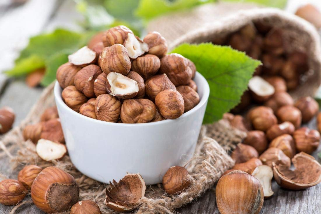 Hazelnuts - Bulk Hazelnuts With Skin 10 Pound Value Box - Freshest And Highest Quality Nuts From US Based Farmer Market - Quality nuts for homes, restaurants, and bakeries. (10 LBS)