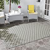 Safavieh Courtyard Collection CY6919-246 Anthracite and Beige Indoor/Outdoor Area Rug (4′ x 5'7″) For Sale