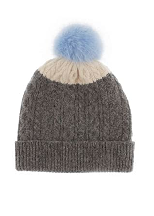 6f90bd988e7 Women s Dents Cable Knit Hat with Pom Pom - Grey Winter White - One Size