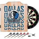 Trademark Gameroom NBA7010-DM3 NBA Dart Cabinet Set with Darts & Board - City - Dallas Mavericks