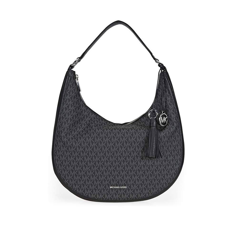 6d3d873d2e87 Amazon.com  Michael Kors Lydia Large Hobo Bag- Black  Shoes