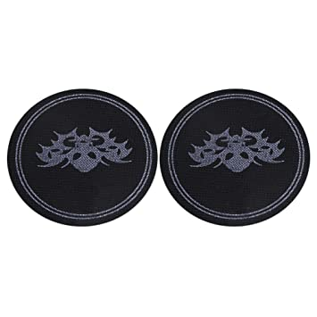 2pieces nylon oval black non slip double pedal patch for bass drum.