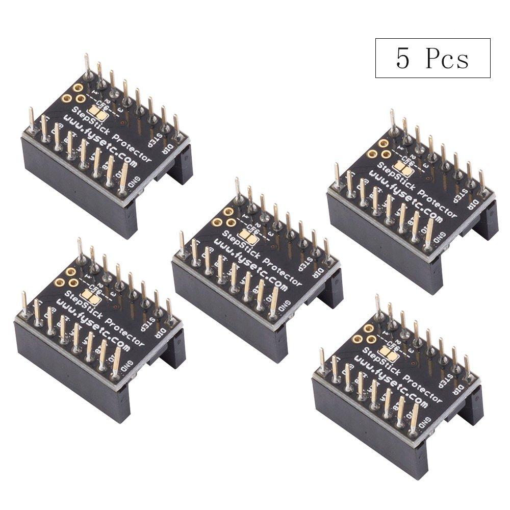 Accesorios de placa base para impresora 3D, FYSETC, partes de motor paso silenciosas que protegen el filtro de grano de la A4988 LV8729 DRV8825 ...