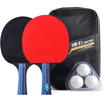 KUANDARPP Ping Pong Raquetas De Tenis De Mesa Durable ...