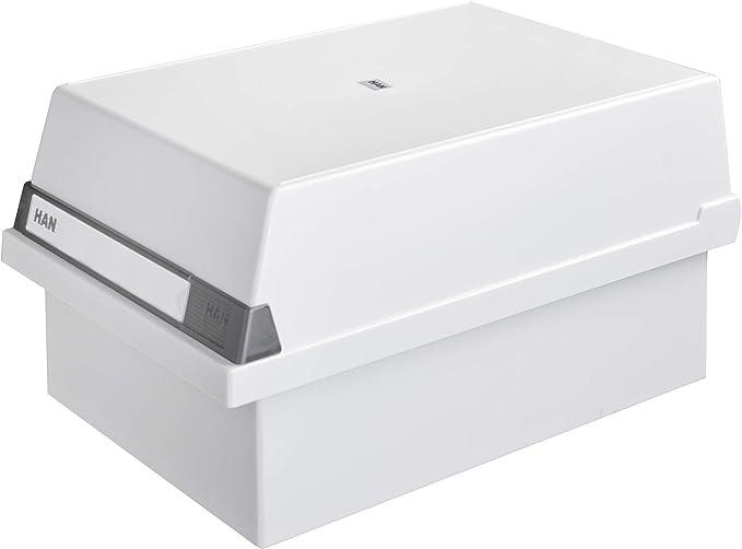 colore: grigio chiaro capacit/à: 1.300 schede circa HAN 955-11 235 x 190 x 360 mm formato A5 orizzontale Contenitore per archivio