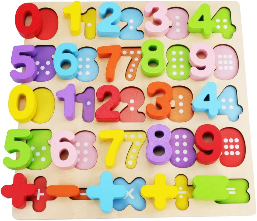Educational Learning Toys for Kids Gift for Boys and Girls Alphabet Puzzle Set WOOD CITY ABC Letter /& Number Puzzles for Toddlers 1 2 3 Years Old 2 Pack