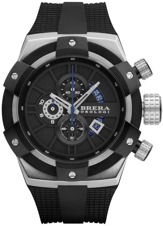 Brera Orologi Herren Chronograph Uhr - Superspotivo silber
