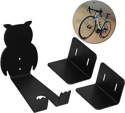 3 Piezas//Juego Soporte Bicicletas Pared Colgador De Bici para Pared Perchas para Bicicleta Pedal Soporte para Pedales Y Fijaci/ón De Ruedas para Bicicletas De Carretera