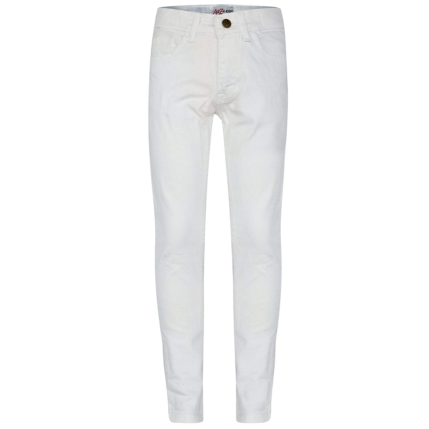 A2Z 4 Kids Kids Girls Skinny Jeans Designer's White Denim Stretchy Pants Fashion Fit Trousers New Age 5 6 7 8 9 10 11 12 13 Years