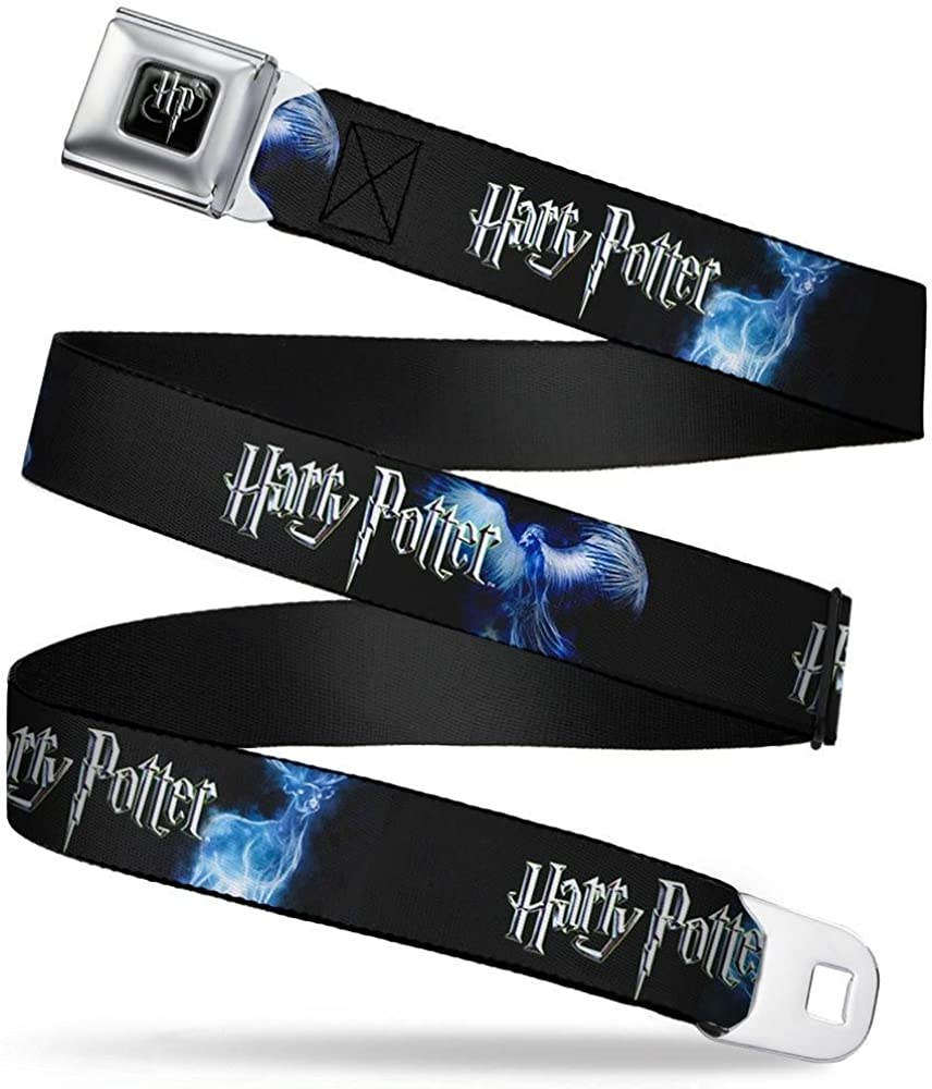 HARRY POTTER//Animal Spirits Black//White//Blue 24-38 Inches in Length 1.5 Wide Buckle-Down Seatbelt Belt