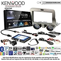Volunteer Audio Kenwood DDX9704S Double Din Radio Install Kit with Apple Carplay Android Auto Fits 2010-2015 Chevrolet Camaro