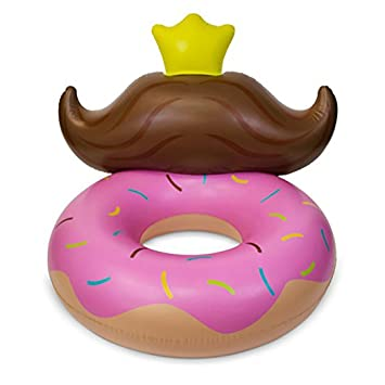 Piscina Inflable Flotador Anillo De Natación Donut Toy Tumbonas Agua Deporte Balsa Tubo con Válvulas Rápidas