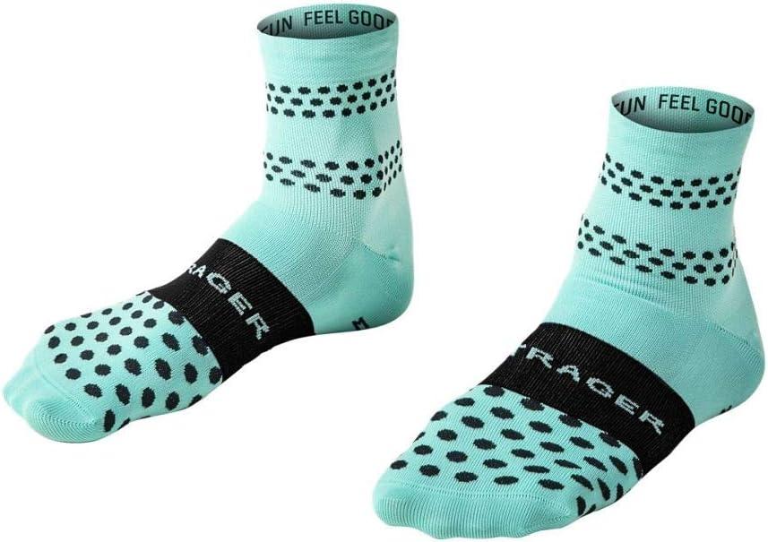 Bontrager Race Quarter Fahrrad Socken t/ürkis gr/ün//schwarz 2020
