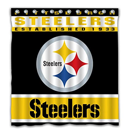 Image Unavailable Not Available For Color Potteroy Pittsburgh Steelers Team Design Shower Curtain