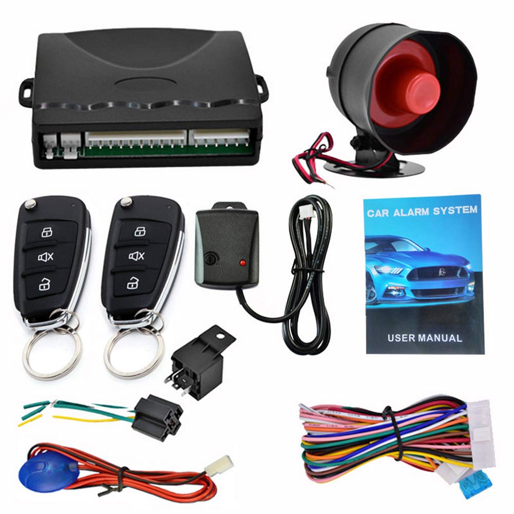 Adealink Car Alarm Car Remote Control System Kit Anti-Theft for Central Door Lock Locking by Adealink