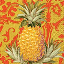 Caspari Entertaining 20-Pack Royal Pineapple Spice Dinner Napkins