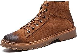 Xujw-shoes, Stivali da Uomo 2018, Stivaletti Casual retrò da Uomo Tacco Alto Scarpe comode da Lavoro (Color : Nero, Dimensione : 39 EU)