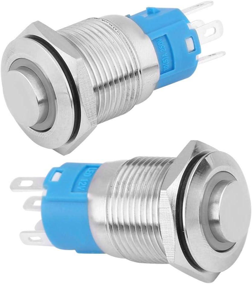 KIMISS 16mm 12V Bouton Poussoir /éteint Push Button Switch pour voiture Rouge + Vert C51