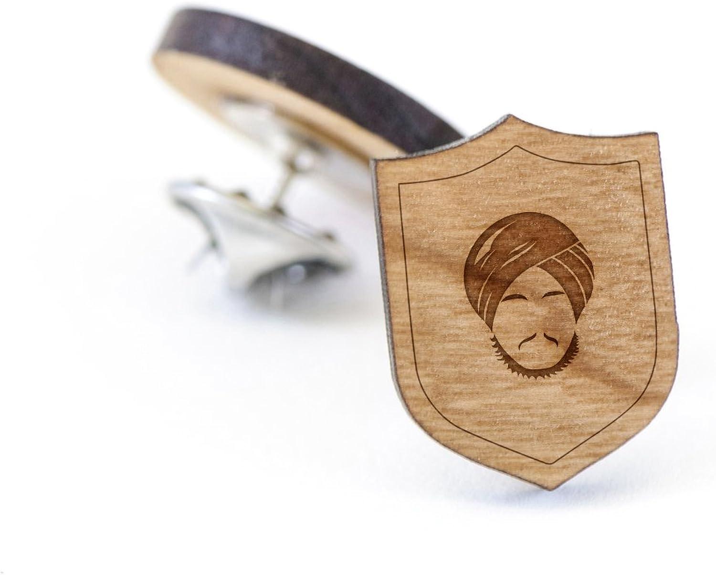 Turban Lapel Pin Wooden Pin