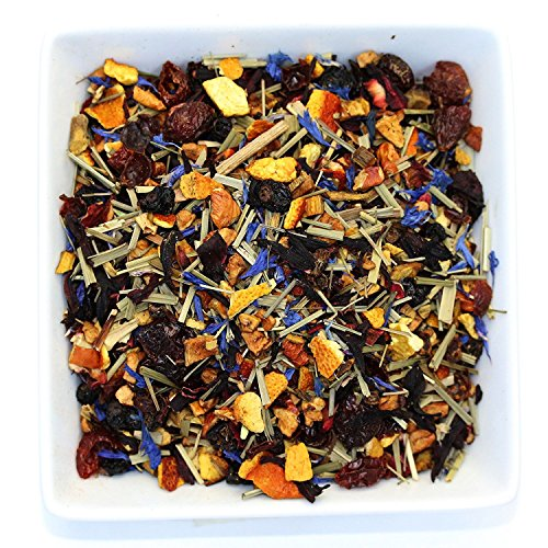 Tealyra - Pink Lemonade - Hibiscus Lemongrass Orange - Fruity - Herbal Loose Leaf Tea - Caffeine-Free - Vitamines Rich - Hot and Iced Tea - 110g (Dry Orange Tea)
