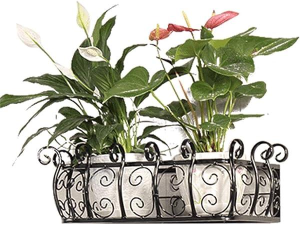 ZHYXJ-Flower Stand Espositore per Piante Supporto di Fiori in Legno Scaffale da Parete Creativo per Soggiorno in Ferro Battuto Mensola A Muro 01