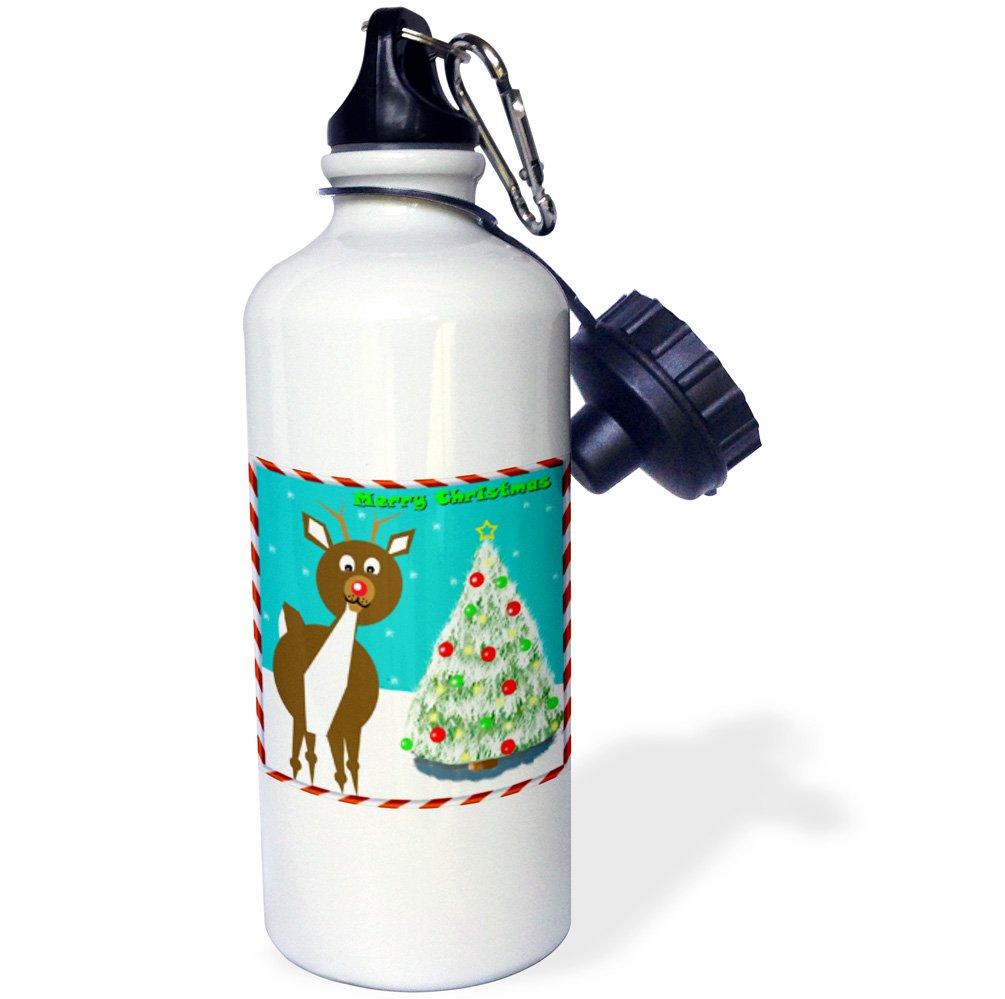 21oz 3dRose Rudolph Reindeer-Sports Water Bottle Multicolor wb/_181886/_1 21 oz