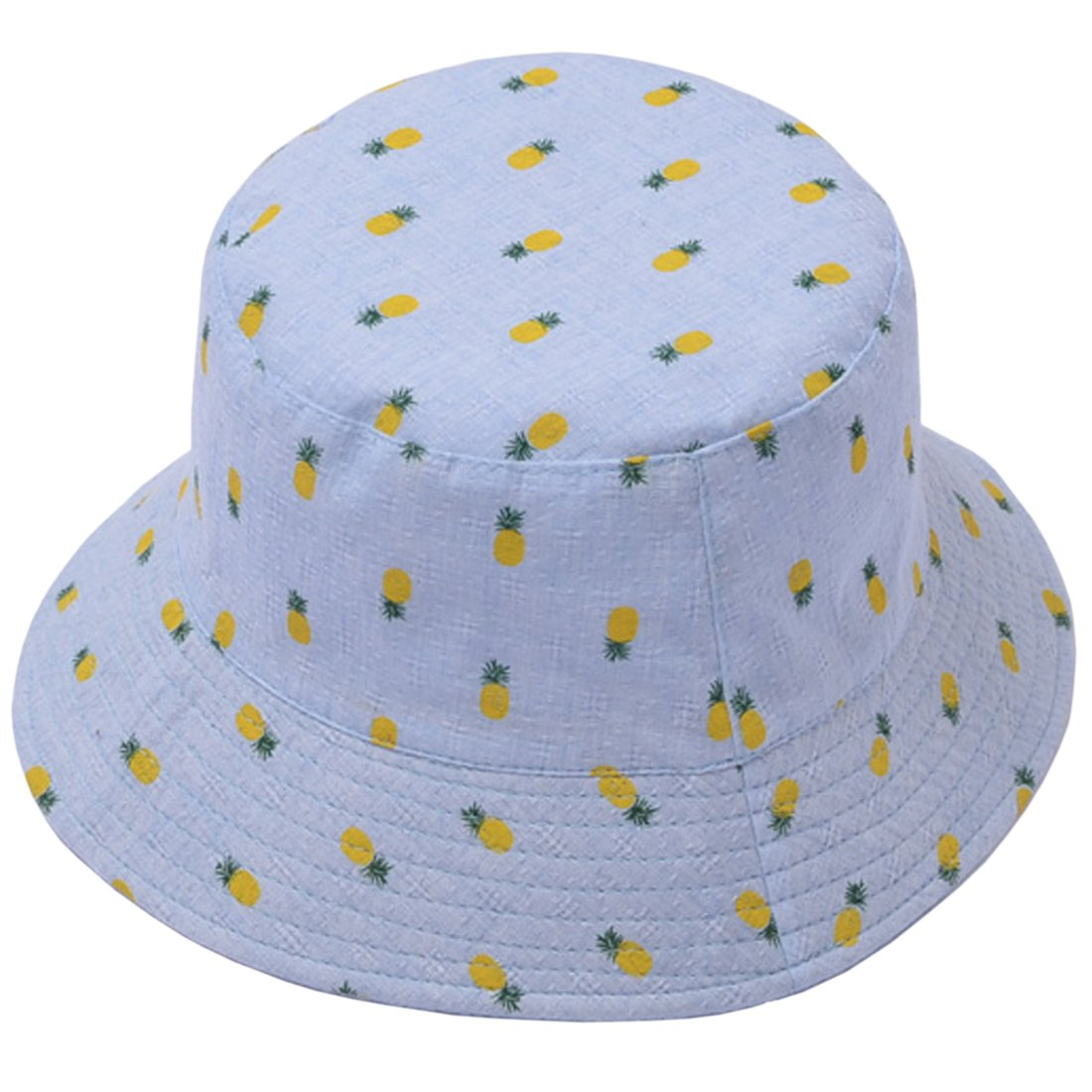 ACVIP Women's Pineapple Print Packable Fisherman Bucket Hat Summer Outdoor Cap 8AC02Y25O-4