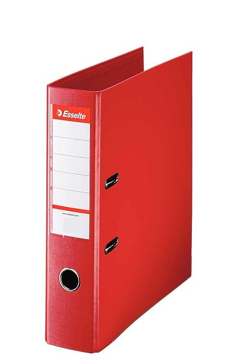 Esselte archivador 70ST rojo, espesor 2-agujero, archivadores, A4 tamaño correspondencia,