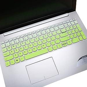 "Keyboard Cover Skin for 2020 2019 Lenovo Yoga C740 C940 15.6, 2020 2019 Lenovo IdeaPad 320 330 330s 520 720s 15.6"", Lenovo IdeaPad 320 330 17.3"", 15.6"" Lenovo V330 Keyboard Protector, Ombre Green"