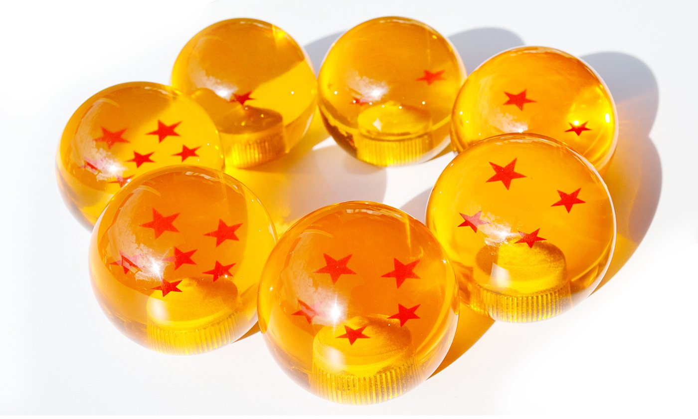 5 STAR Rxmotor Dragon ball Z Star Manual Stick Shift Knob With Adapters Fits Most Cars 1-7 stars