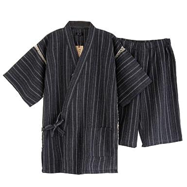 Traje de Pijama Kimono de Estilo japonés para Hombres [H]: Amazon ...