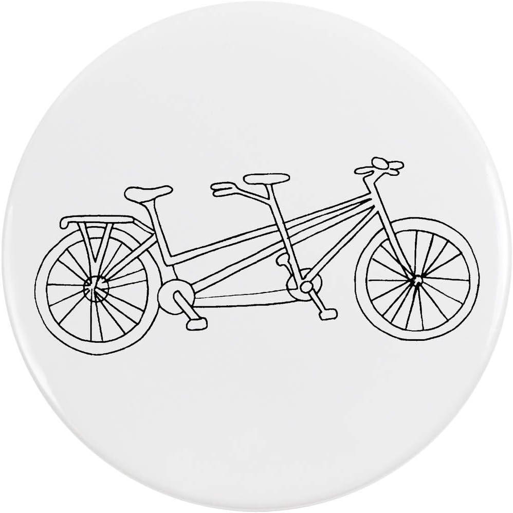 Azeeda 77mm Bicicleta Tandem Insignia de Botón Pin (BB00055258 ...