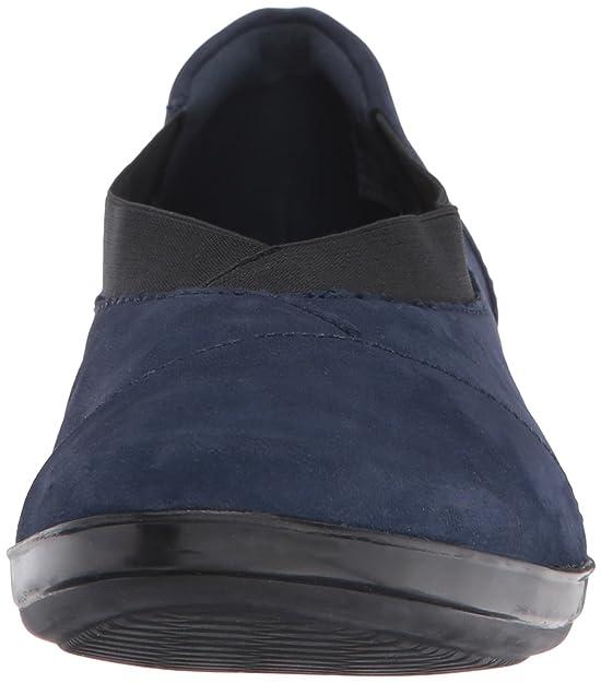 CLARKS Women's Everlay Eve Slip-on Loafer, Navy Nubuck, 6 M US