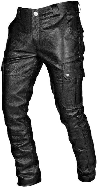 Nusgear Pantalones De Cuero Hombre Casual Gotico Retro Punk Deportivos Pants Moda Jogging Pantalon Gym Slim Fit Pantalones Largos Pantalones Ropa De Hombre Pantalones De Trekking Vpass Amazon Es Ropa Y Accesorios