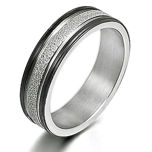 Gemini Men's or Women's Matt & Polish Anniversary Wedding Titanium Ring Valentine's Day Gift for Men 1CYhoHF