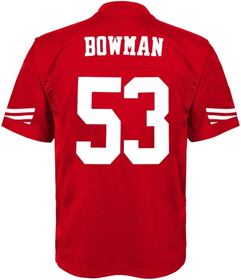 Outerstuff NaVorro Bowman NFL San Francisco 49ers Mid Tier Home Replica Jersey Youth S-XL