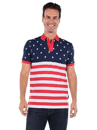 e97182fd6809 Tipsy Elves Men s American Flag Polo Shirt at Amazon Men s Clothing ...