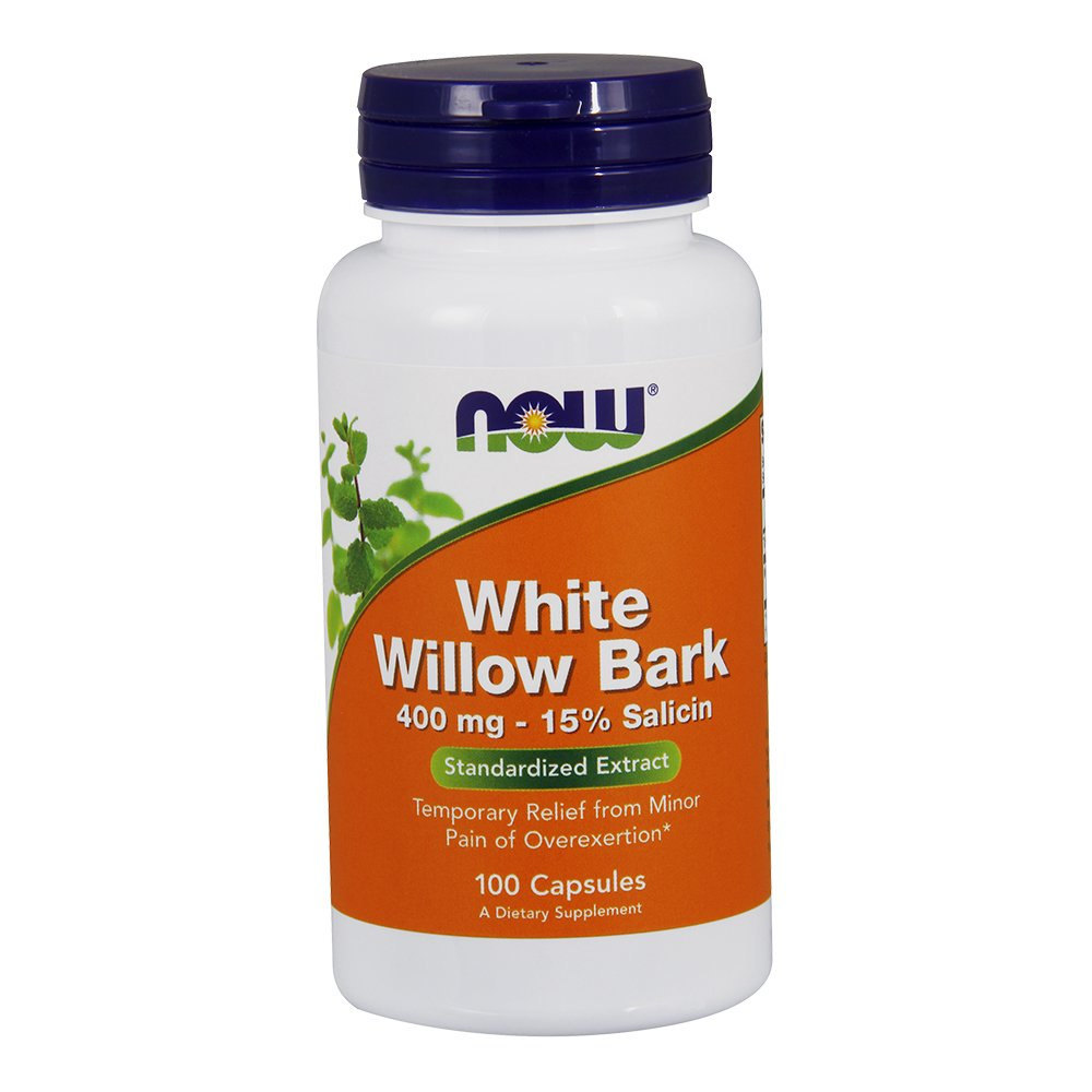 NOW White Willow Bark 400mg, 100 Capsules